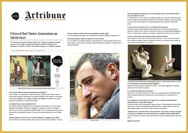 Artribune | Conversazione con Fabrizio Arcuri | 02-09-15